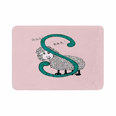 Sis for Sheep by Rosie Brown Bath Mat Color: Pink