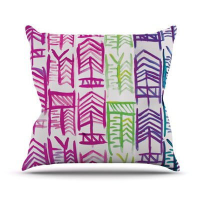 Quiver by Theresa Giolzetti Outdoor Throw Pillow Color: Pink/Green