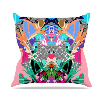 Japanese Rorschach by Danii Pollehn Throw Pillow Size: 16 H x 16 W x 3 D