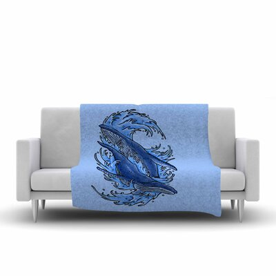 Humpback Whales Throw Blanket Size: 90 L x 90 W