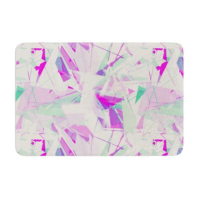 Shatter by Alison Coxon Bath Mat Color: Purple, Size: 17W x 24L