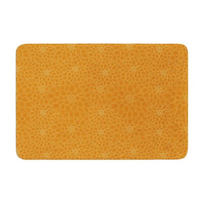 Flowers by Julia Grifol Bath Mat Color: Orange, Size: 17W x 24L
