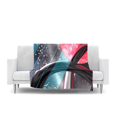 Geometric Mars Fleece Throw Blanket Size: 60 L x 50 W