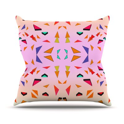 Candy Land Tropical Throw Pillow Size: 16 H x 16 W x 3 D
