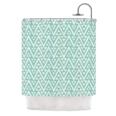 Geo Tribal by Amanda Lane Tribal Shower Curtain Color: Turquoise