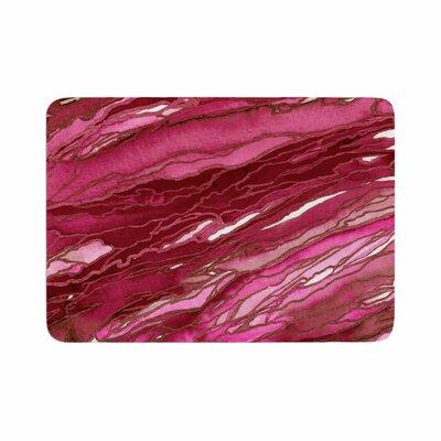 Agate Magic by Ebi Emporium Memory Foam Bath Mat Size: 24 L x 17 W, Color: Hot Pink/Red