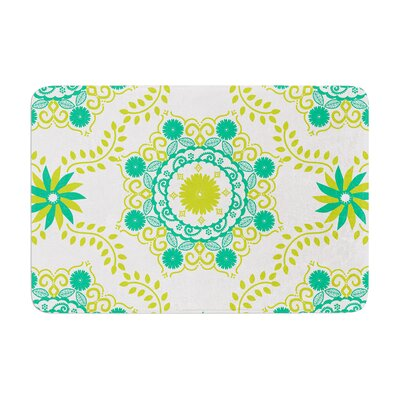 Lets Dance by Anneline Sophia Bath Mat Color: Green, Size: 17W x 24L