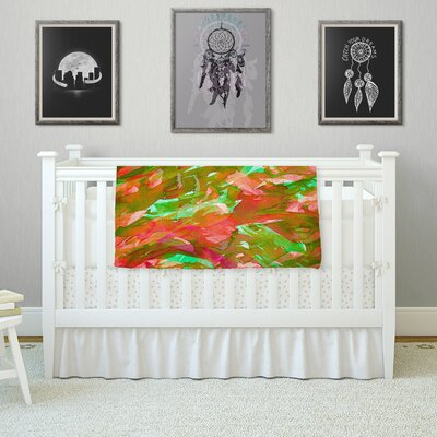 Motley Flow by Ebi Emporium Fleece Blanket Color: Orange/Green