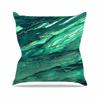 Agate Magic Throw Pillow Size: 18 H x 18 W x 6 D, Color: Teal Green / Multi