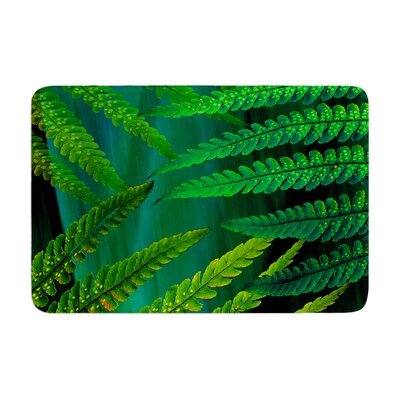 Forest Fern by Alison Coxon Bath Mat Color: Green, Size: 24 W x 36 L