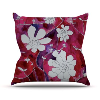 Succulent Dance by Theresa Giolzetti Outdoor Throw Pillow Color: Red