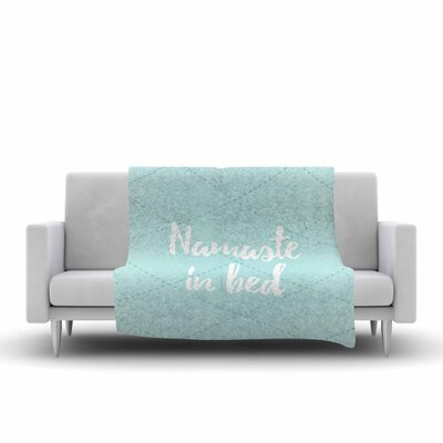 Namaste In Bed Fleece Blanket Color: Teal