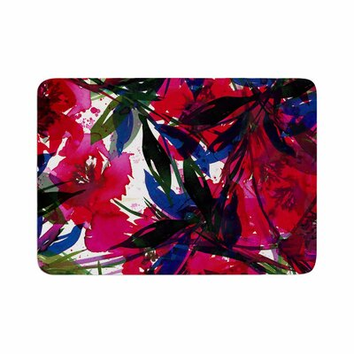 Floral Fiesta by Ebi Emporium Memory Foam Bath Mat Size: 24 L x 17 W, Color: Red