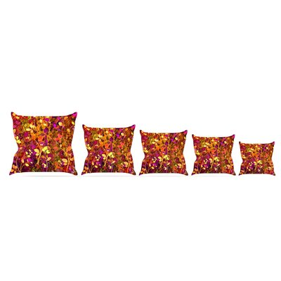 Throw Pillow Size: 26 H x 26 W x 5 D, Color: Warm Sunset