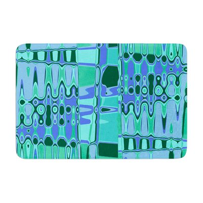 Changing Gears by Vikki Salmela Bath Mat Color: Blue