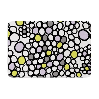 Pebbles by Emine Ortega Bath Mat Color: Lilac, Size: 17W x 24L