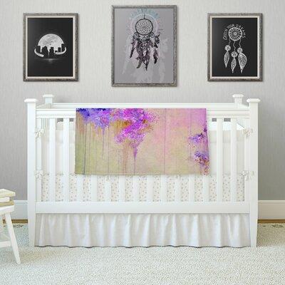 When Land Met Sky by Ebi Emporium Fleece Blanket Color: Purple