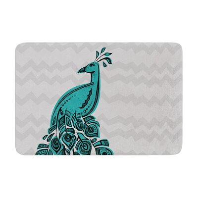 Peacock by Brienne Jepkema Bath Mat Color: Pink, Size: 24 W x 36 L