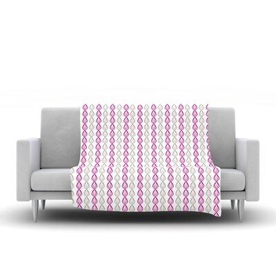 Fleece Throw Blanket Size: 40 L x 30 W, Color: Plum