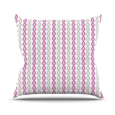 Pod Outdoor Throw Pillow Color: Pink