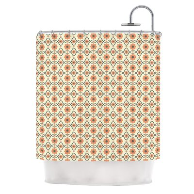 Floral by Nandita Singh Shower Curtain Color: Orange