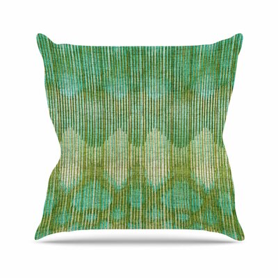 Vintage Ikat Throw Pillow Color: Green / Gold, Size: 26