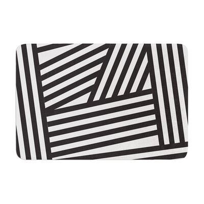 Stripes by Louise Machado Bath Mat Color: Black