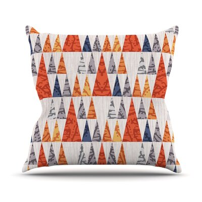 Tepee Town by Daisy Beatrice Throw Pillow Size: 16 H x 16 W x 3 D