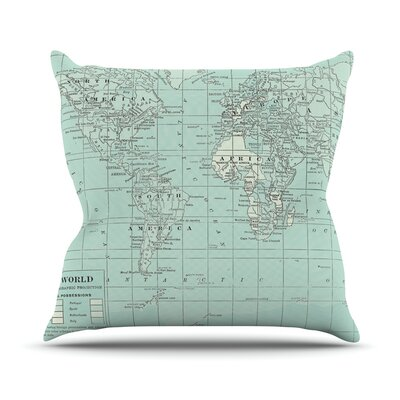 The Old World by Catherine Holcombe Throw Pillow Size: 18 H x 18 W x 3 D