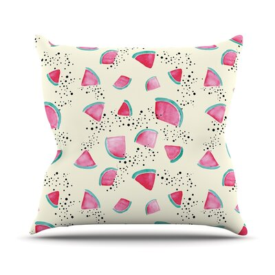 Watermelon by Danii Pollehn Throw Pillow Size: 20 H x 20 W x 4 D