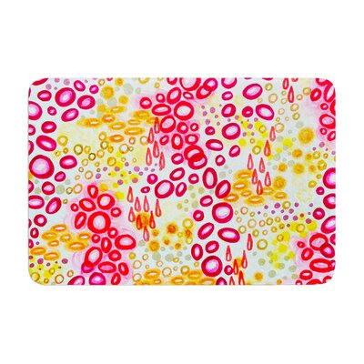 Circular Persuasian by Ebi Emporium Bath Mat Color: Pink/Yellow, Size: 17W x 24L
