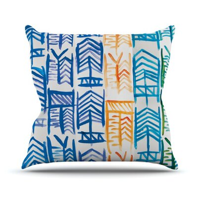 Quiver by Theresa Giolzetti Outdoor Throw Pillow Color: Blue/Orange