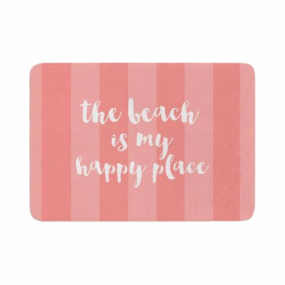 Beach is My Happy Place by Sylvia Cook Memory Foam Bath Mat Color: Coral