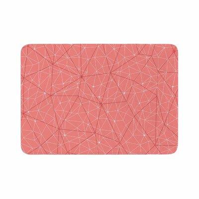 Wanderlust by Michelle Drew Memory Foam Bath Mat Color: Pink, Size: 36 L x 24 W