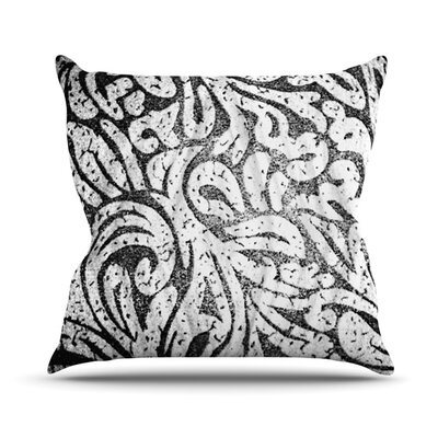 Paisley by Alveron Outdoor Throw Pillow Color: Monochrome