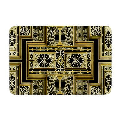 Golden Art Deco by Nika Martinez Bath Mat Color: Black/Gold