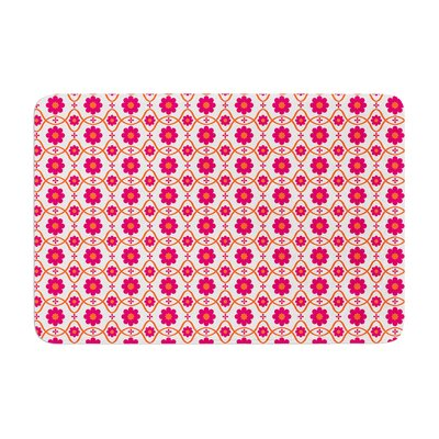 Floral by Nandita Singh Bath Mat Color: Pink