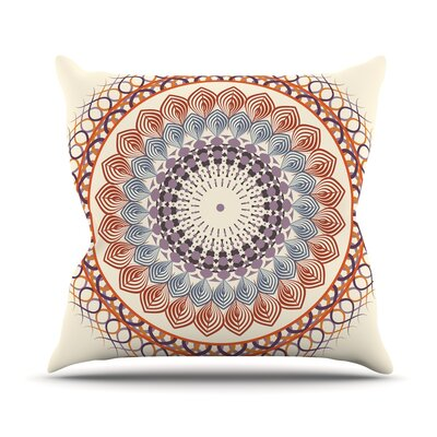 Vintage Mandala by Famenxt Throw Pillow Size: 26 H x 26 W x 5 D