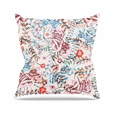 African Romance Throw Pillow Size: 18 H x 18 W x 6 D, Color: Light Pink