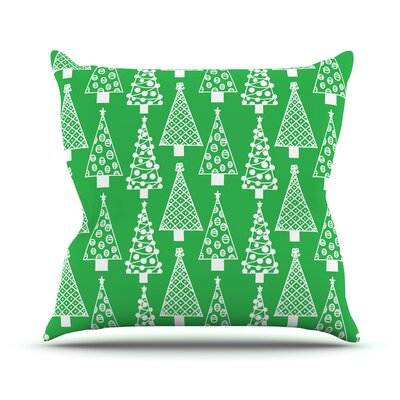 Jolly Trees by Emine Ortega Throw Pillow Size: 16 H x 16 W x 3 D