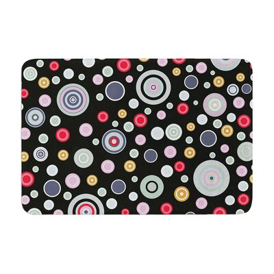 Circle Circle II by Suzanne Carter Bath Mat Color: Black