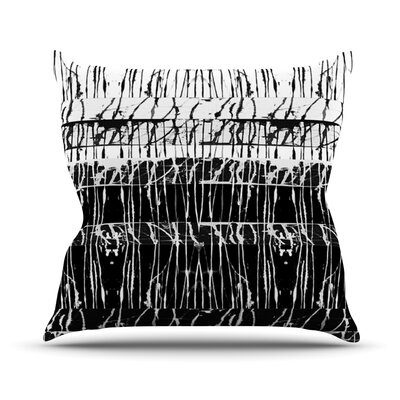 Century City Splatter by Nina May Outdoor Throw Pillow Color: Black/White