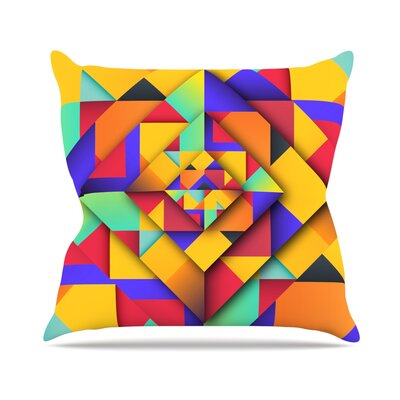 Shapes II by Danny Ivan Throw Pillow Size: 16 H x 16 W x 3 D