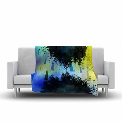 As Above, So Below by alyZen Moonshadow Fleece Blanket Color: Blue