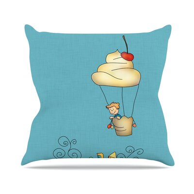 Sweet World by Carina Povarchik Throw Pillow Size: 18 H x 18 W x 3 D