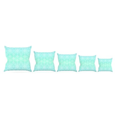 Throw Pillow Size: 18 H x 18 W x 3 D, Color: Aqua
