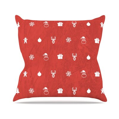 Cheery Pattern Throw Pillow Size: 18 H x 18 W x 3 D, Color: Red