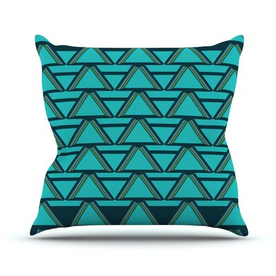 Deco Angles Outdoor Throw Pillow Color: Blue / Dark Blue