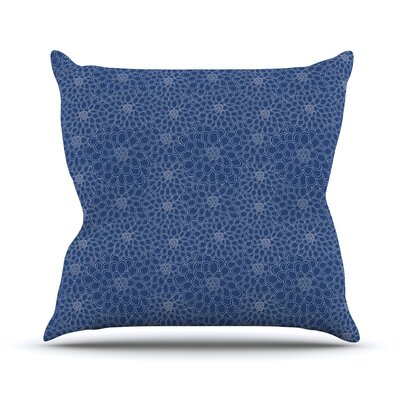 Throw Pillow Size: 16 H x 16 W x 3 D, Color: White on Blue