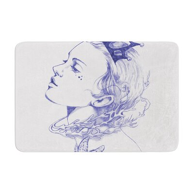 Queen of the Sea by Lydia Martin Bath Mat Color: Purple